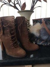 River Island suede tassel boots Size:4 Eu:37