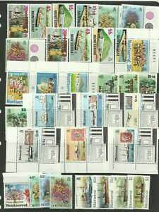 MONTSERRAT Selection of Unmounted Mint Stamps, 9 sets.