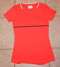 Lacoste Sport Womens Size 36 Athletic Tennis Sports Short Sleeve Top
