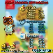 Bells, Nook Miles Tickets, Fish Bait Fast Delivery!
