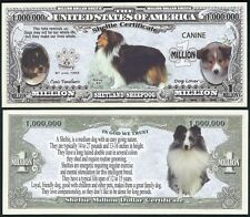 Lot of 25 BILLS - Sheltie, Shetland Sheepdog Puppy & Adult Pics, Facts on Back