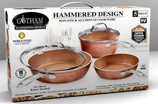 Gotham Steel Premium Hammered Cookware Set 5 Piece Nonstick Ceramic Pots Pans