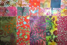 17 fat quarters Quilter's #1 Batik from Marshall Dry Goods 100% Cotton Fabric