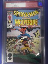 Spider-Man vs.Wolverine #1 CGC 9.4 Near Mint (Feb 1987, Marvel) White Pages