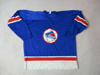 VINTAGE Wilson New York Rangers Hockey Jersey Adult Medium Blue Red Mens 90s *