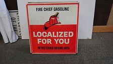 Vintage Texaco Fire Chief Sign 1960s Gas Station Texas Oil Co Rare