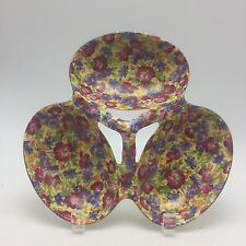 Royal Winton Royalty Chintz Rare 3 Lobe server Candy, Nuts Early Piece England