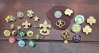 Large Vintage to Now Boy Scout Girl Scout Pin Lot BSA GSA Scouting