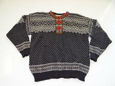 Vintage Norlfender Women's Black White Wool Sweater Made in Norway Norwegian 14