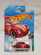 Hot Wheels 2018 Volkswagen Beetle Tooned #4/5 Collection #107/365 RED Long Card