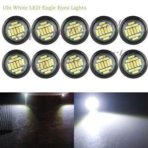 10x DC12V 15W White Eagle Eye LED Daytime Running DRL Backup Light Car Auto Lamp