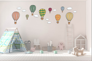 Colourful Hot Air Balloons Kids Wall Stickers Wall Decals Peel & Stick Removable