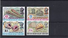 British INDIAN Ocean Territ 1974 SHELLS Wildlife Stamps Set 4v SG58-61 Ref:X120