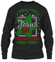 Jesus Reason For The Season - Is Gildan Long Sleeve Tee T-Shirt