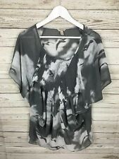 Women's Ted Baker Floaty Top - Size 1 UK8 - Grey - Great Condition