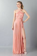 NEW MARIA LUCIA HOHAN LYRA HALTER PLEATED RED CARPET GOWN SIZE FR 40 $2595
