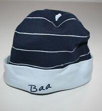 New Hanna Andresson Boys Blue Striped Baa Cotton Beanie Hat Cap NWT Size Medium