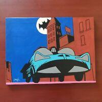 Batman Ride Hand Painted Original Oil Painting by Cargill old batman DC comics
