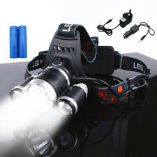 Rechargeable Head Torch Headlamp Light Lamp 12000 Lumens 3 x XML T6 LED Zoom UK