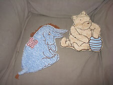 CLASSIC WINNIE THE POOH SOFT SCULPTURE NURSERY WALL HANGING DECOR PLUSH CHENILLE
