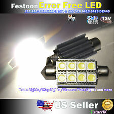 2pcs Error Free 8-SMD 5050 LED License Plate Dome Trunk Light HID Xenon White