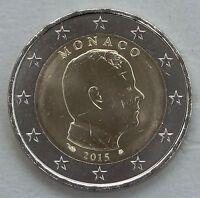 2 Euro Monaco 2015 Albert II unz