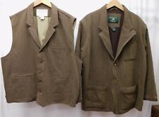 VTG Orvis Field Hunting zambezi Sports Coat Jacket Blazer and Vest Men's sz XXL