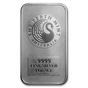 1 oz Silver Bullion - Kangaroo Silver Bar - Perth Mint - Australian Bullion