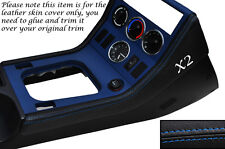 BLUE Stitch 2x center console side trim CUOIO PELLE copre gli accoppiamenti BMW Z3 95-03