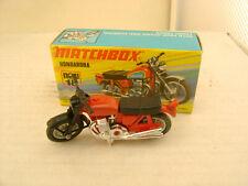 1974 MATCHBOX LESNEY SUPERFAST RED #18 HONDA HONDARORA MOTORCYCLE NEW IN BOX