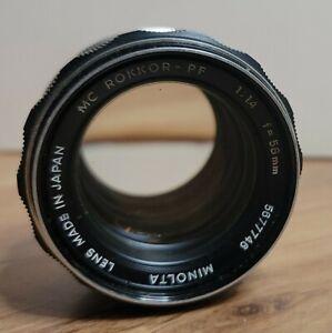Minolta MC Rokkor-PF 58mm f/1.4 Manual Focus Lens - Some Dust