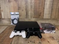 Sony Playstation 3 Console 160gb, 2 wireless controllers and 5 games