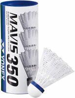 Yonex Mavis 350 Badmintonball 6er Dose Bälle Nylonshuttles weiß