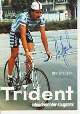 CYCLISME  carte cycliste URS FREULER équipe TRIDENT  signée