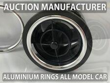 Mazda MX5 MX-5 Miata Eunos 89-05 Chrome Air Vents Surrounds Alloy Trim Rings x4