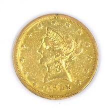 1844-O TEN DOLLAR $10 LIBERTY HEAD GOLD EAGLE COIN 90% GOLD COLLECTIBLE US NR