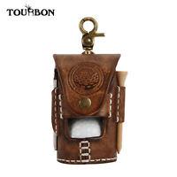 Tourbon Handmade Leather Golf Accessories Pouch Ball Divot Tool Tees Carry Bag