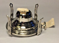NEW #1 Solid Brass, Nickel Plated Queen Anne Oil Lamp Burner With Wick #OB611N