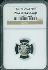 1997-W $10 PLATINUM EAGLE STATUE LIBERTY NGC PR69 PROOF PF69 1/10 Oz. FIRST YEAR