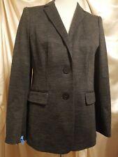 Ann Taylor Charcoal Grey Womens 2 Button Suit Jacket Coat Sz 10P 10 Petite