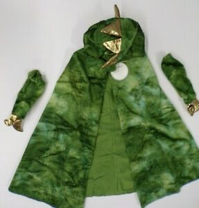 Pottery Barn Kids Lets Play Dragon Dress Up Costume Set 3Pc One Size Green #9618