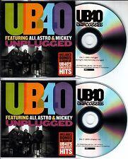 UB40 Unplugged + Greatest Hits 2016 UK numbered 36-track promo test 2-CD