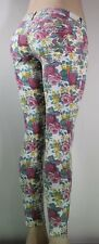 GUESS NEW WOMENS JEANS Denim floral Zippers SZ 27