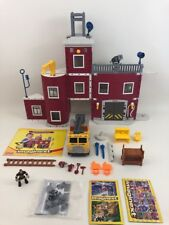 Fire Rescue Center Playset Fisher Price Imaginext Building Toy Firetruck 98% Lot