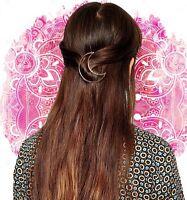 Classic Vintage Gold Moon Hair Clip Hair Pin Accessory Galaxy Space Sailor Moon