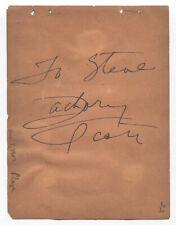 Zachary Scott Signed Album Page Vintage Autographed Signature Actor
