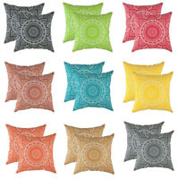 TreeWool, (2 Pack) Throw Pillow Cushion Covers in Cotton Canvas Mandala Accent