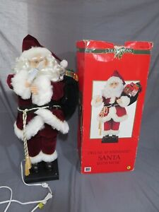 Traditions 30 Inch Deluxe Animated Santa with Christmas Music Lighted Candle