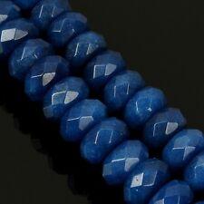 10 Lapis Lazuli Blau ACHAT PERLEN 10mm Edelsteine Rondell Facettiert G152