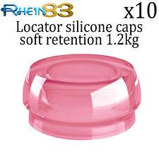 10x Rhein 83 Dental Implant Locator Silicone Flat Soft Retention Caps